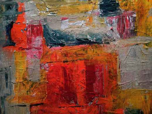 red gray and yellow abstract painting